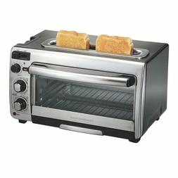 Hamilton Beach 2-In-1 Countertop Oven And Long Slot Toaster,