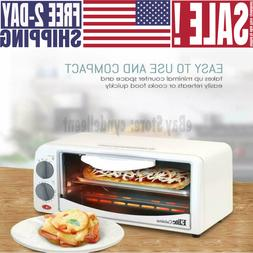 Personal 2 Slice Countertop Toaster Oven with Bake, Broil, a