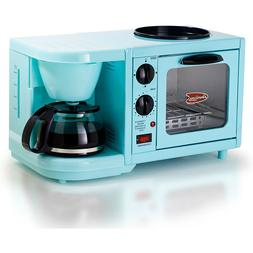3 in 1 Breakfast Station Coffee Maker Toaster Oven Griddle S