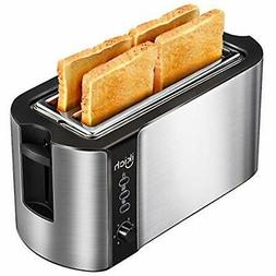 4 Slice Long Slot Toaster Best Rated Prime, Stainless Steel