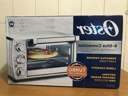 Oster 6-Slice Turbo Convection Countertop Oven Brushed Stain