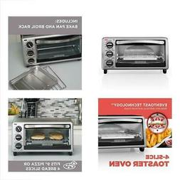 NEW BLACK+DECKER Toaster Ovens TO1313SBD 4-Slice Oven, w/Bak