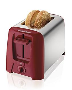 Hamilton Beach Cool Wall 2-Slice Toaster, Red