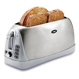 Oster Long Slot 4-Slice Toaster, Stainless Steel