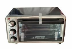 Black And Decker 4-Slice Toaster Oven In Grey