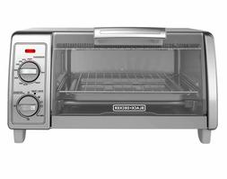 Black and Decker 4-Slice Toaster Oven in Grey NIB