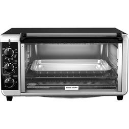 BLACK+DECKER Extra Wide 8-Slice Toaster Oven, Stainless Stee
