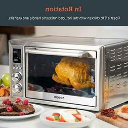 Air Fryer Toaster Oven Convection Roaster with Rotisserie &