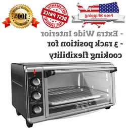 Convection Countertop Toaster Oven Extra Wide 8-Slice Bake P