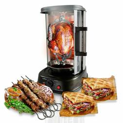 Nutrichef Countertop Vertical Rotating Oven - Rotisserie Sha