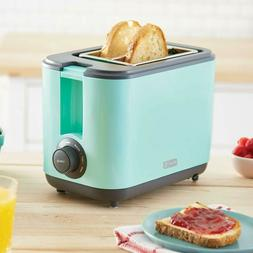 Dash DEZT001AQ 2 Slice Extra Wide Slot Easy Toaster with wit