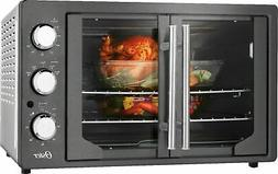 Oster Digital French Door Oven with Convection, Metallic Cha