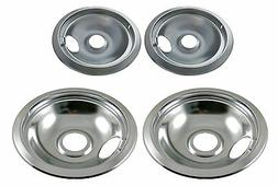 Drip Pan Set Chrome for Frigidaire Range Oven - 2 x 31604841