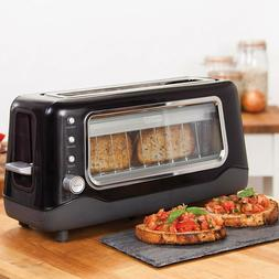Extra Wide Slot Toaster with Stainless Steel Accents - Black