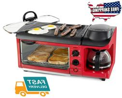 Home Kitchen All in one Red Toaster Ovens Appliances Dining