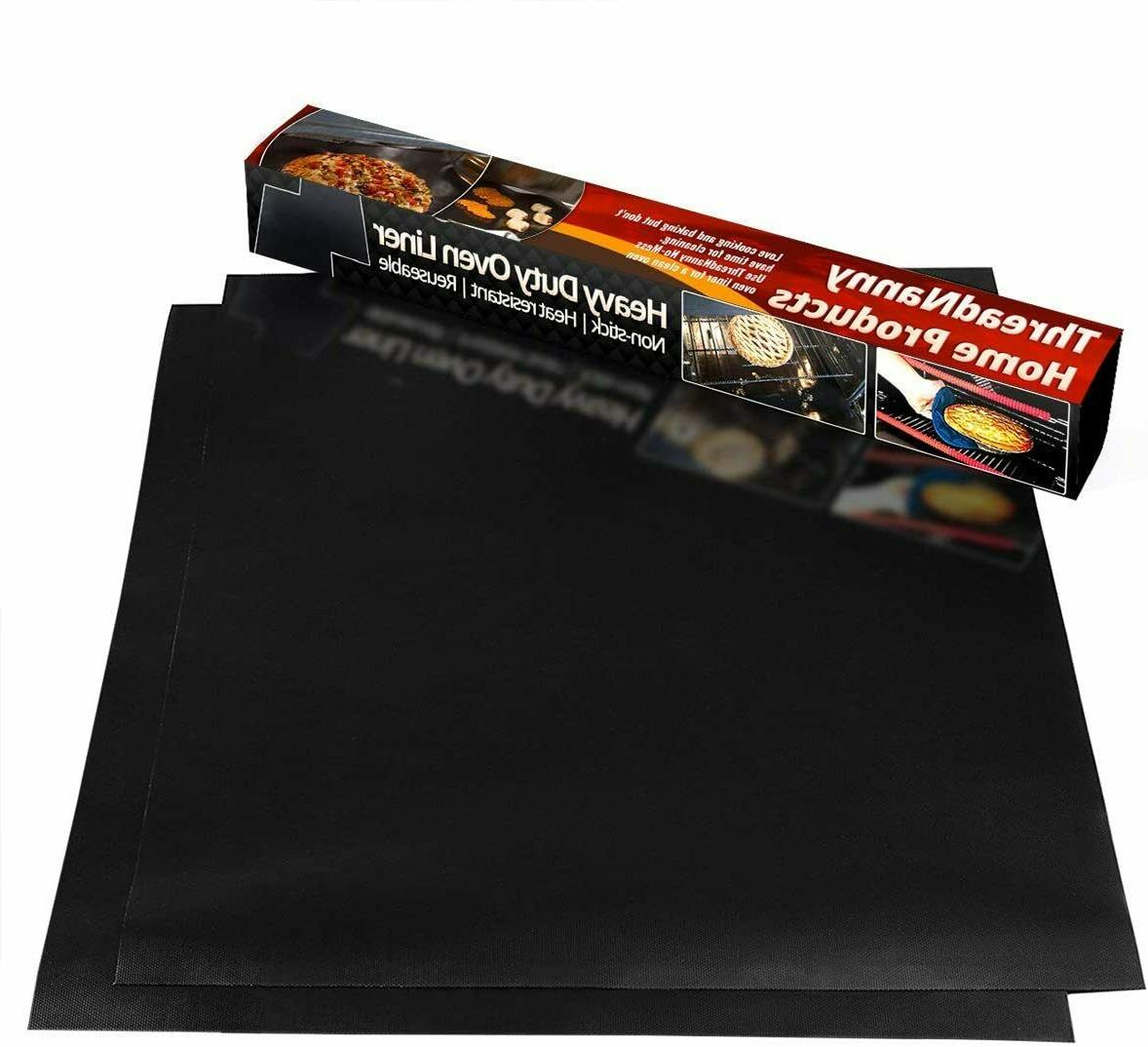 2 pack non stick oven liners reusable