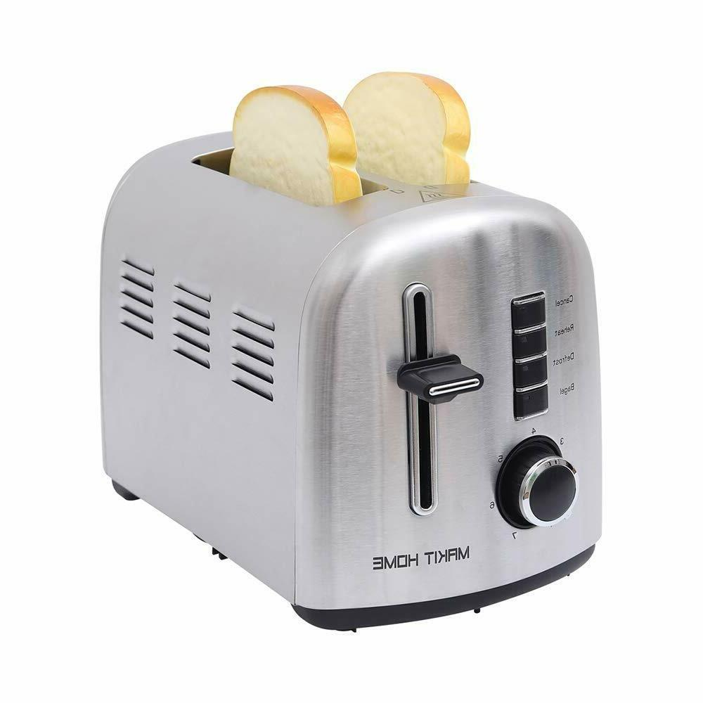 2 slice stainless steel compact toaster extra