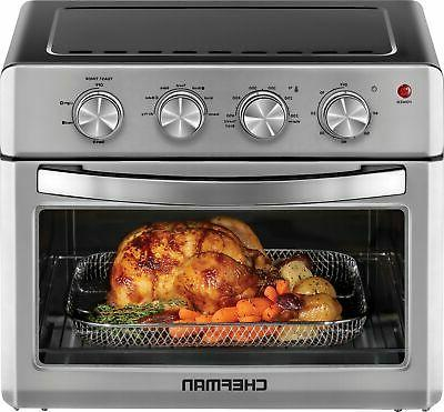 Chefman - 25 L Analog Air Fryer Toaster Oven, 6 Slice, Conve