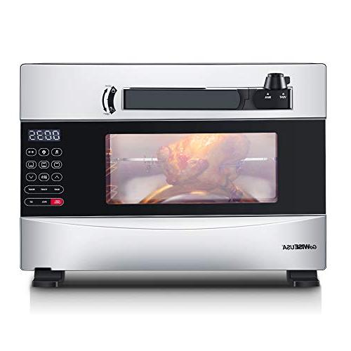 GoWISE USA 27-Quart Programmable Pressure Oven w/Rotisserie + 20 Recipes For Your Pressure Oven