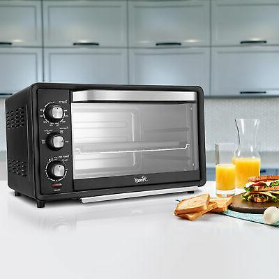 """6-Slice Convection Oven 19L Countertop Bake/Broil/Toast 12"""" Pizza"""