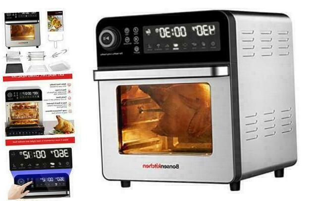 Bonsenkitchen Oven With Rotisserie And Rack 15.3Qt Toaster