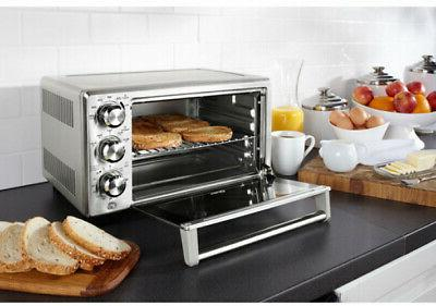 Stainless Convection Oven Toaster Extra Large Top W/ 3-Adjustable Rack