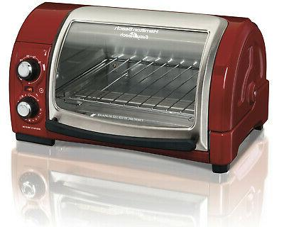 easy reach toaster oven with roll top