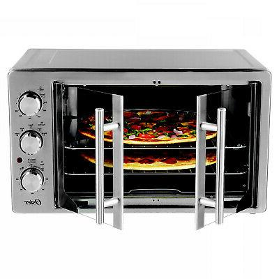 ENERGY EFFICIENT CONVECTION DOOR STAINLESS TOASTER