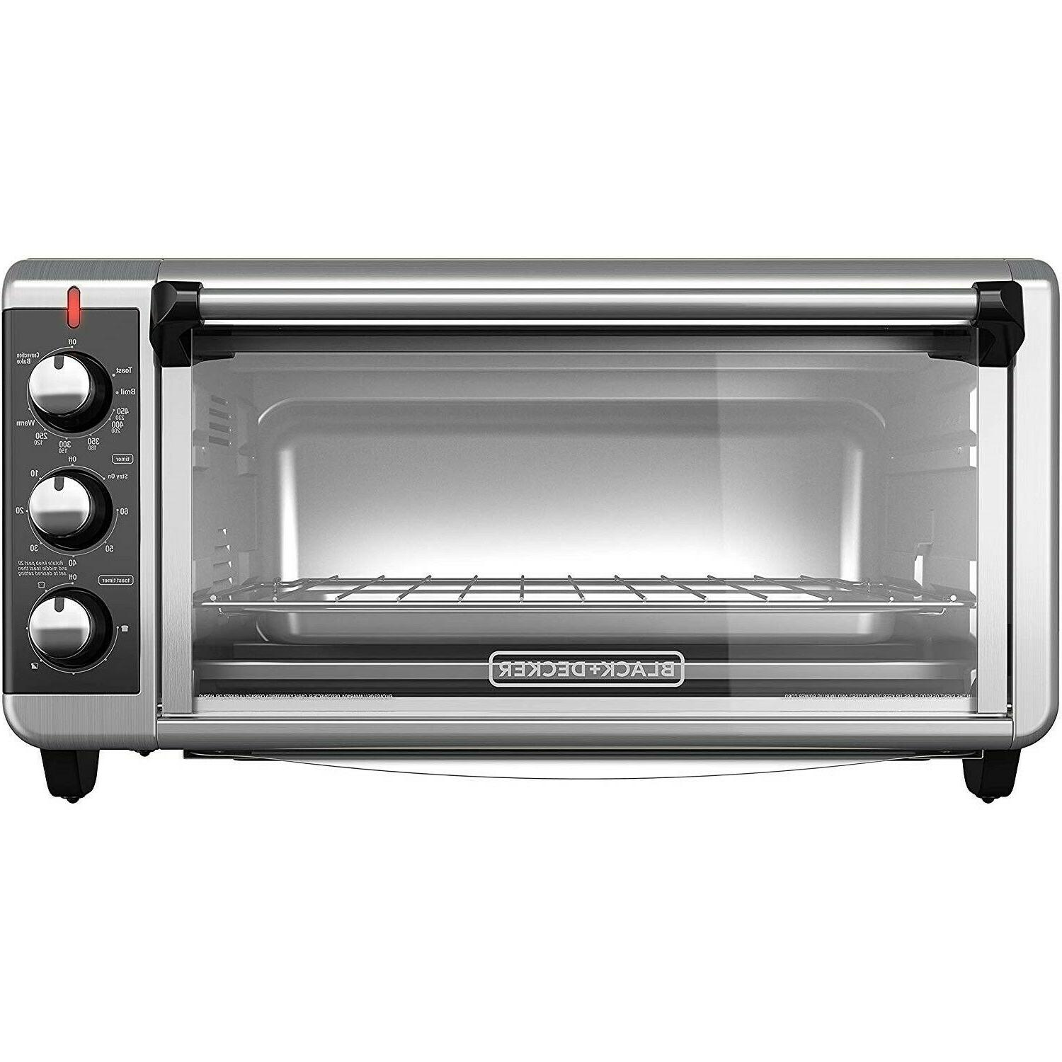 Extra Wide Toaster 8-Slice Pan Stainless