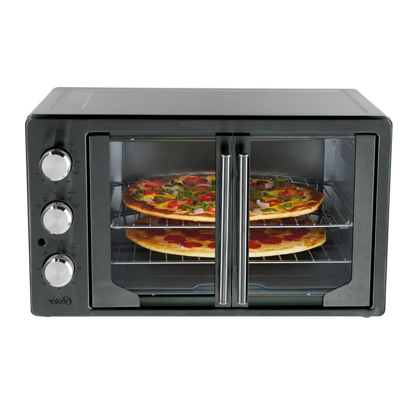 NEW OSTER DIGITAL METALLIC/CHARCOAL FRENCH DOOR CONVECTION O