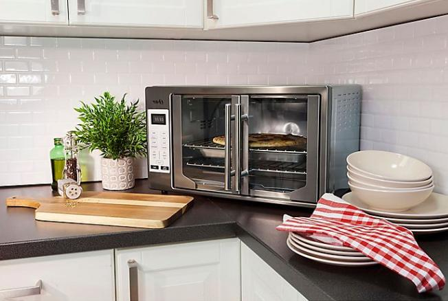 Oster French Door Oven Black Stainless