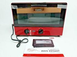 Dash Metal Compact Toaster Oven Cooker Red Brand New In Box