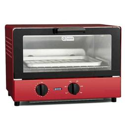 metal compact toaster oven cooker red brand