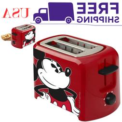 Mickey Mouse 2 Slice Toaster Red/Black Kitchen Oven Bar Smal