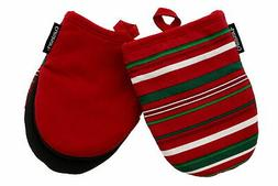 Cuisinart Neoprene Mini Oven Mitts w/Nonslip Grip & Hanging