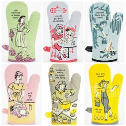 Blue Q Novelty Oven Mitts Funky Funny Quirky Phrases Designs