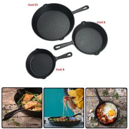 Pre Seasoned Cast Iron Skillet  - 6 Inches, 8 Inches and 10