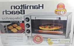 "Hamilton Beach Toaster Oven 4 Slice Capacity Fits 9"" Pizza 3"