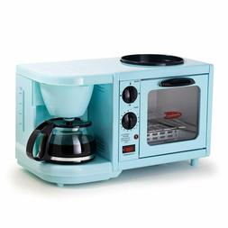 Toaster Oven Coffee Maker and Griddle 3 in 1 Multifunctional