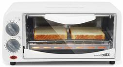 Toaster Oven Large White 15 minute Timer Auto Shut Off Glass